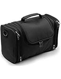 ignpion large toiletry bag menwomen hanging wash bag cosmetic makeup organiser travel bag with shoulder strap black