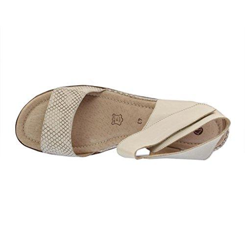 REMONTE DORNDORF - D1154-64 - Damen Sandalen - Beige Schuhe in Übergrößen Beige