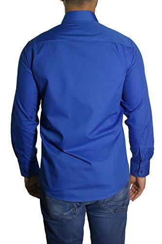 MMUGA -  Camicia Casual  - Maniche lunghe  - Uomo Blu