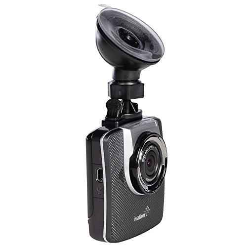 Ivation-Dash Cam 1296p HD Video & registratore GPS, 155°, grandangolo, con rilevamento di movimento e sensore di gravità, 6-Lente in vetro a luce bassa WDR Dashcam & HDR