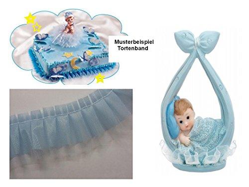 Torten Deko Set Babyparty Taufe Geburt 1.Geburtstag Junge 2 teilig Kuchendeko Tortenfigur Tortenkerze