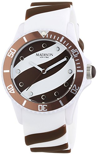 MADISON NEW YORK Unisex-Armbanduhr Candy Time Lollipop Analog Quarz Silikon U4620-19