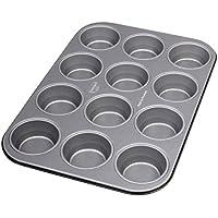 Dr. Oetker Muffinform 12er, Backblech antihaft für Muffins, Muffin Backform mit Wärmeleitung (Kuchenform ca.: Ø 5,5 cm), Menge: 1 Stück