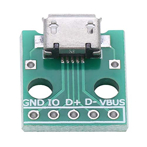 Keenso 10 Stücke Micro USB Breakout Board Buchse zu DIP Adapter Board 5 Pin 2,54mm Pitch Adapter Stecker Breakout-adapter