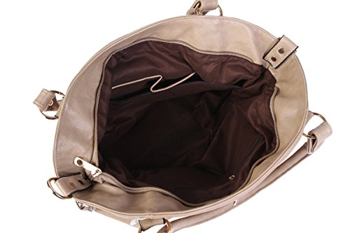 Da donna Damara chiusura magnetica maniglia superiore borse Nero (nero)