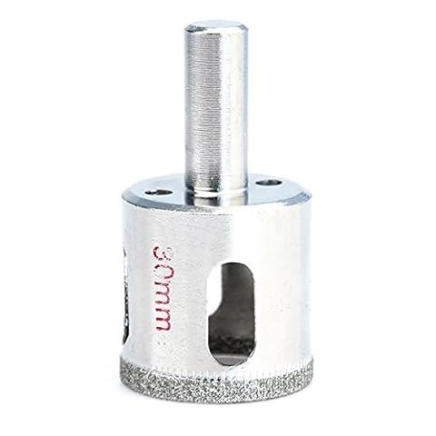 Idealeben® 30mm Foret diamanté Fraise Mèche Trépan pour Céramique Verre