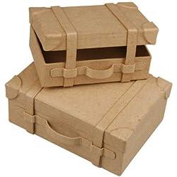 Mini-valises, 4,5x11x7,5 cm, 2 assorti