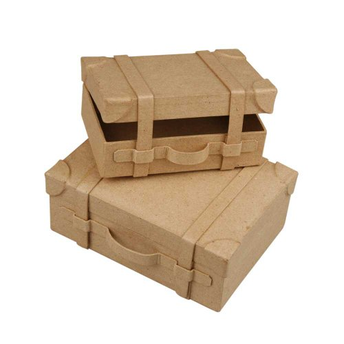 Koffer, Mini, 4,5x11x7,5 cm, 2 sort.