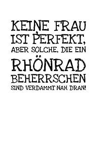 Keie Frau Ist Perfekt Aber Solche Die Ein Rhönrad: Notizbuch Journal Tagebuch...