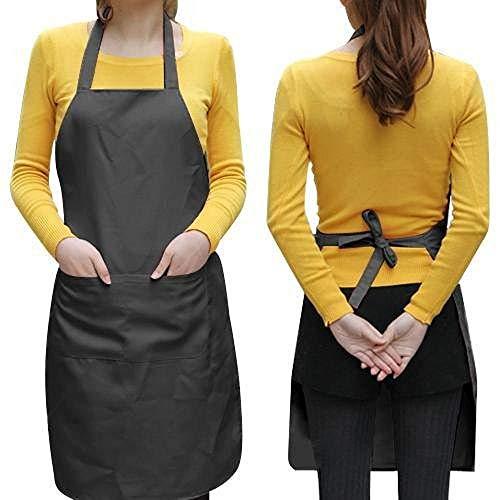 Yaheetech Kochschürze Grillschürze Frauen Küchenschürze Arbeitskleidung in 3