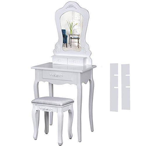 songmics-coiffeuse-blanc-table-de-maquillage-avec-miroir-et-tabouret-145-x-60-x-40cm-rdt60w