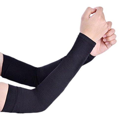 Dosige Arm Ärmel Armlinge Radsport Sonnenschutz Unisex Kühlung Armstulpe UV-Schutz für Basketball Golf Radsport 36CM Schwarz