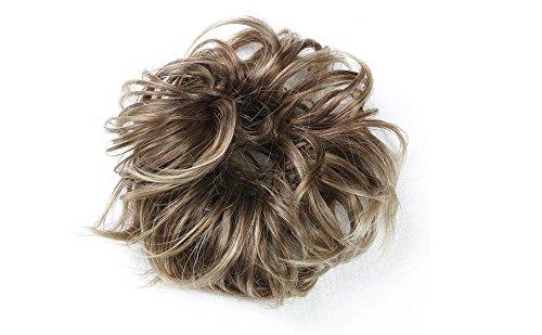 Merrylight Haargummi gelocktes unordentlicher Dutt Haarteil mit Gummi((0628A Gemischt Braun&Blond-10/863)