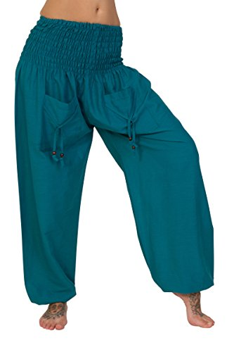 ThaiUK Damen Hose One size Ozeanblau