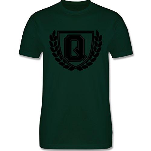 Anfangsbuchstaben - Q Collegestyle - Herren Premium T-Shirt Dunkelgrün