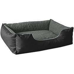 BedDog lit pour Chien LUPI, Noir/Gris, XL env. 100x85 cm,Panier Corbeille, Coussin de Chien