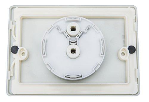 Cornat Betätigungsplatte für Unterputz-Spülkasten mit kleiner Revisionsöffnung, 1 Stück, chrom matt, AP2
