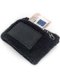 Wristband zip con il braccio la borsa e del polso con il sacchetto, Wristband con cerniera per gli uomini e le donne nere sport come jogging, corsa, tennis