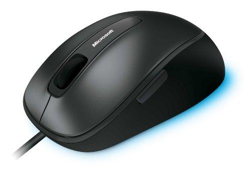 Microsoft Usb-maus (Microsoft Comfort Mouse 4500 kabelgebunden, für Rechts- und Linkshänder geeignet, schwarz und grau)