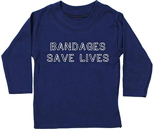 HippoWarehouse Bandages Save Lives Camiseta Unisex bebé Manga Larga
