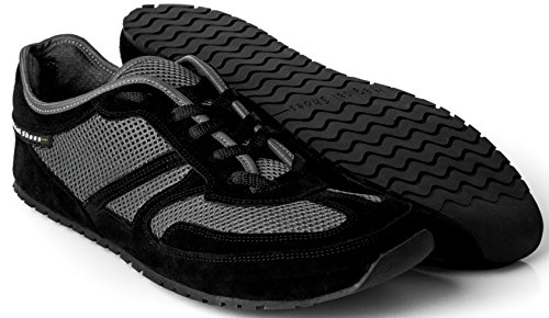 Magical Shoes - Explorer Scarpe a Piedi Nudi | Donne | Uomini | Ragazzi | Scarpe da Corsa | Zero Drop | Flessibile | Antiscivolo, Größe:42 / 270mm, Farbe:MS Explorer Smooth Elegant - Nero/Grigio
