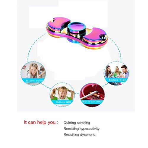 ILOVEDIY Hand Fidget Spinner Toys Teniendo alta velocidad Aliviar el estrés, Ansiedad, TDAH Adultos y Niños Juguetes - 2