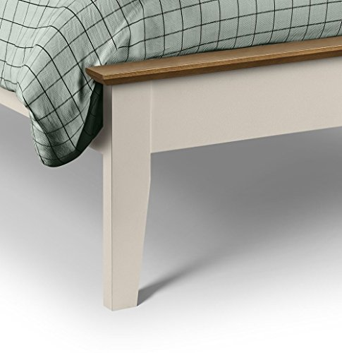 Happy Beds Salerno Bed Wooden Stone White and Oak Memory Foam Mattress 5' King Size 150 x 200 cm