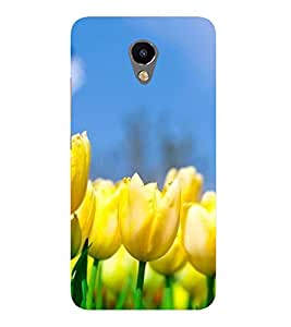 Fiobs Designer Back Case Cover for Meizu M3 (Rose Flowers Floral Ful Yellow Gulaab Aroma Smell)
