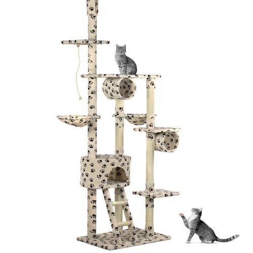 happypet-tiragraffi-a-soffitto-regolabile-in-altezza-230-260-cm-colonne-in-sisal-naturale-beige-con-