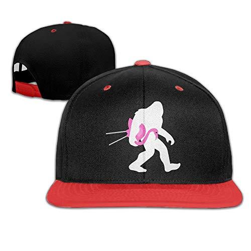 Wdskbg Bigfoot und Pink Flamingo Herren Damen Hip Hop Baseball Caps ()