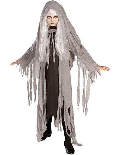 Mitternacht Geist Kostüm. Medium 5-7 Jahre. Perücke, hooded Gaze Mantel und (Kostüme Mitternacht Geist)