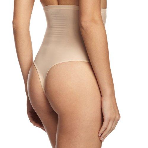MAGIC Bodyfashion Damen Miederpants Hi Waist Thong, Einfarbig Beige (Skin 1373)