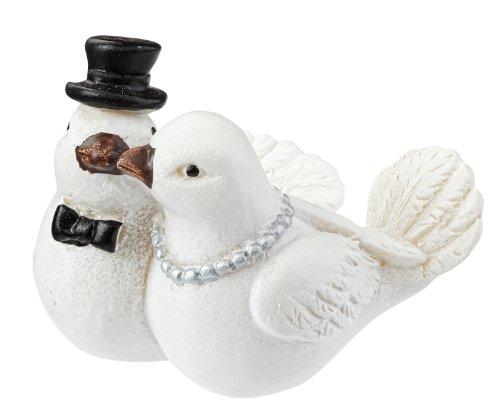 Hochzeit Taubenpaar mit Ringen 4 cm Hochzeit Figur Deko Brautpaar Taube Ring