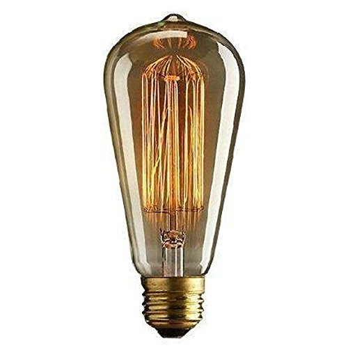 Cmyk® DIMMABLE Vintage light bulb - squirrel cage filament (old fashioned Edison) E27 screw' Test
