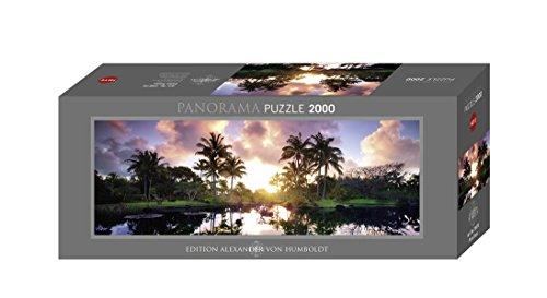 Heye 29676 - Panoramapuzzle, Dennis Frates, AvH Palm Trees, 2000 Teile (Palm Haus Tree)