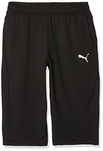 3/4 Ärmel Polo (PUMA Kinder Liga Training 3/4 Pants Jr Hose, Black White, 164)