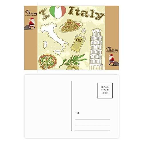 Postkarte/Postkarte, Motiv: Schiefer Turm von Pisa Santa Claus, Italien, 20 Stück -
