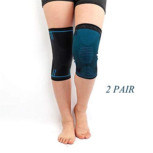 Einstellbare Knieschutz, Knie Unterstützung, Kniepolster Klammer für Laufen Kniesicherheit Schmerzlinderung Sportverletzung Rehabilitation Schutz (2 para),M -