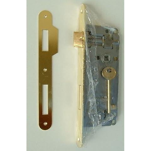 Cerradura para puertas de interior 50 contropiastr AGB y latón con llave
