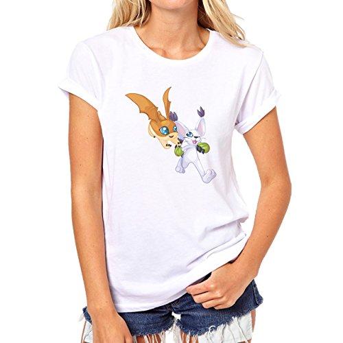 DigimonPatamon Angemon Angewoman Play Damen T-Shirt Weiß