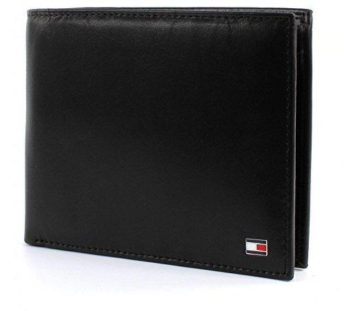 TOMMY HILFIGER Eton Trifold Wallet Black (Logo Tri-fold Wallet)