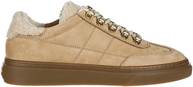 Hogan Zapatos Zapatillas de Deporte Mujer en Ante Nuevo h340 Marrón
