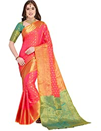 d6859c002e691e EthnicJunction Booti Zari Butta Banarasi Silk Saree With Zari Thread Work Unstitched  Blouse Piece(EJ1178