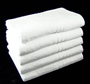 Pack of 3 WHITE 100% Cotton Bath Sheets / Towels 100cm x 150cm - 500 GSM