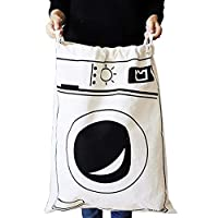 Fyore Extra Large Canvas Storage Bag Heavy Duty Drawstring Cotton Linen Shabby Chic Laundry Wash Bag 65 * 45cm