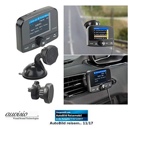 auvisio DAB Auto: Kfz-DAB+/DAB-Empfänger, FM-Transmitter, Bluetooth, Freisprech-Funktion (DAB+ Transmitter Auto)