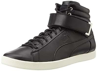 Puma Unisex Modern Court Hi Citi Series Black and Whisper White Sneakers - 8 UK