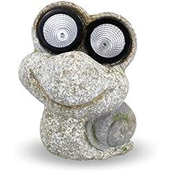 Lámpara solar de jardín con forma de animal para exteriores, con aspecto de piedra, modelos de tortuga, cocodrilo, rana, caracol a elegir