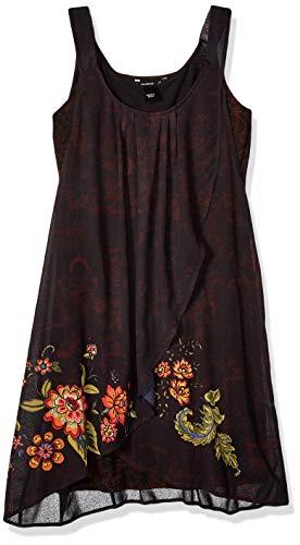 Desigual Dress Straps Julie Woman Black Robe, Noir (Negro 2000), 40 Femme