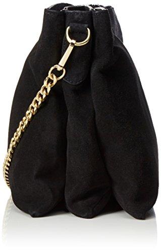 PIECES Damen Pclichi Suede Cross Body Schultertasche, 7x24x32 cm Schwarz (Black)